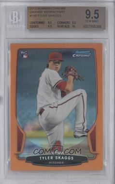 2013 Bowman Chrome Orange Refractor #188 - Tyler Skaggs /25 [BGS 9.5]