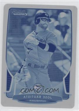 2013 Bowman Chrome Printing Plate Cyan #90 - Jose Bautista /1