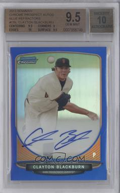 2013 Bowman Chrome Prospects Autographs Blue Refractor #BCP-CBL - Clayton Blackburn /150 [BGS 9.5]