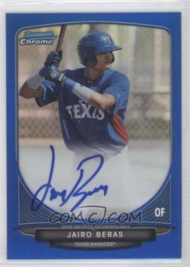 2013 Bowman Chrome Prospects Autographs Blue Refractor #BCP-JBE - Jairo Beras /150