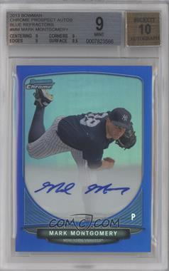 2013 Bowman Chrome Prospects Autographs Blue Refractor #BCP-MM - Mark Montgomery /150 [BGS 9]