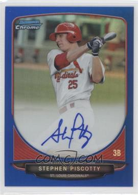 2013 Bowman Chrome Prospects Autographs Blue Refractor #BCP-SP - Stephen Piscotty /150