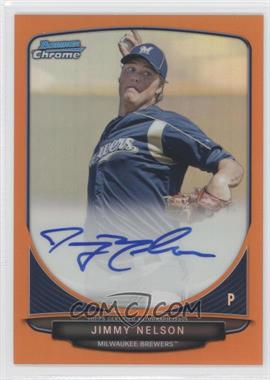 2013 Bowman Chrome Prospects Autographs Orange Refractor #BCA-JN - Jimmy Nelson /25