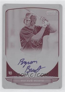 2013 Bowman Chrome Prospects Autographs Printing Plate Magenta #BCP-BB - Byron Buxton /1