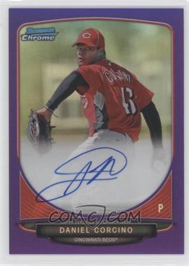 2013 Bowman Chrome Prospects Autographs Purple Refractor #BCP-DC - Daniel Corcino /10