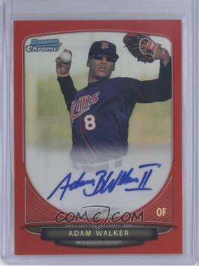 2013 Bowman Chrome Prospects Autographs Red Refractor #BCA-AW - Adam Walker /5
