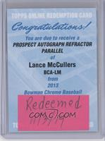 Lance McCullers Jr. /500 [REDEMPTION Being Redeemed]