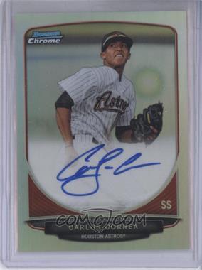 2013 Bowman Chrome Prospects Autographs Refractor #BCP-CC - Carlos Correa /500