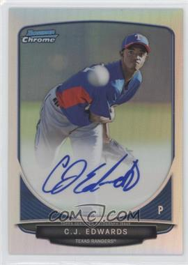 2013 Bowman Chrome Prospects Autographs Refractor #BCP-CE - C.J. Edwards /500