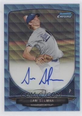 2013 Bowman Chrome Prospects Autographs Wrapper Redemption Blue Wave Refractor #BCP-SS - Sam Selman /50