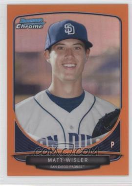 2013 Bowman Chrome Prospects Orange Refractor #BCP149 - Matt Wisler /25