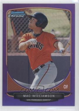 2013 Bowman Chrome Prospects Purple Refractor #BCP220 - Mac Williamson /199