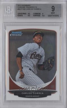 2013 Bowman Chrome Prospects #BCP100 - Carlos Correa [BGS9]