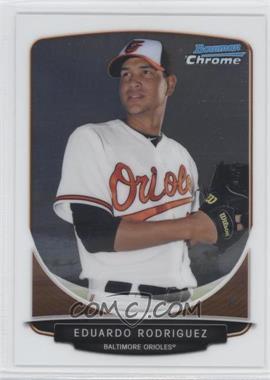 2013 Bowman Chrome Prospects #BCP207.1 - Eduardo Rodriguez (posing)