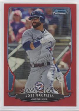 2013 Bowman Chrome Red Refractor #90 - Jose Bautista /5