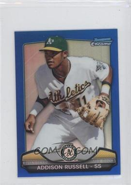 2013 Bowman Chrome Risin' thru the Ranks Blue Refractor #RTR-AR - Addison Russell /250
