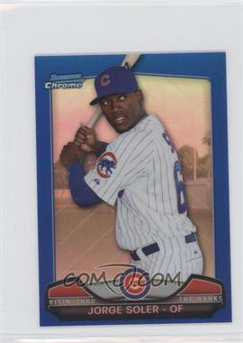 2013 Bowman Chrome Risin' thru the Ranks Blue Refractor #RTR-JS - Jorge Soler /250