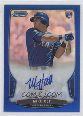 2013 Bowman Chrome Rookie Autographs Blue Refractor #ACR-MO - Mike Olt /250