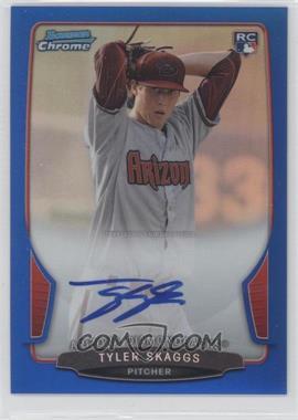 2013 Bowman Chrome Rookie Autographs Blue Refractor #ACR-TS - Tyler Skaggs /250