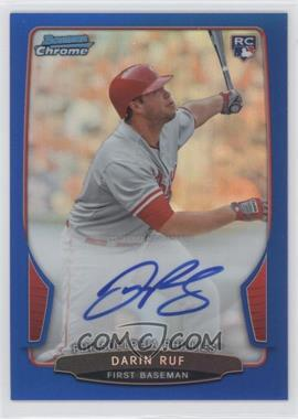 2013 Bowman Chrome Rookie Autographs Blue Refractor #DR - Darin Ruf