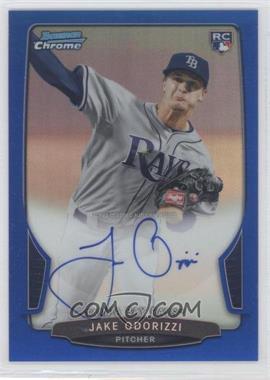 2013 Bowman Chrome Rookie Autographs Blue Refractor #JO - Jake Odorizzi /250