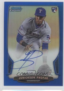 2013 Bowman Chrome Rookie Autographs Blue Refractor #JP - Jurickson Profar /250