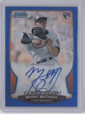 2013 Bowman Chrome Rookie Autographs Blue Refractor #MM - Manny Machado /250