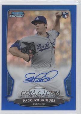2013 Bowman Chrome Rookie Autographs Blue Refractor #PR - Paco Rodriguez /250