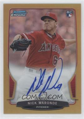 2013 Bowman Chrome Rookie Autographs Gold Refractor #ACR-NM - Nick Maronde /50