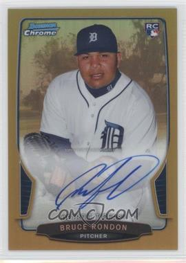 2013 Bowman Chrome Rookie Autographs Gold Refractor #N/A - Bruce Rondon /50