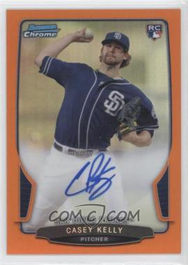 2013 Bowman Chrome Rookie Autographs Orange Refractor #ACR-CK - Casey Kelly /25