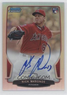 2013 Bowman Chrome Rookie Autographs Refractor #ACR-NM - Nick Maronde /500