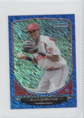 2013 Bowman Cream Of The Crop Chrome Mini Blue Wave Refractor #CC-CR1 - Billy Hamilton /250