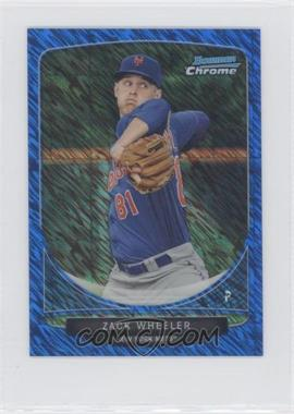 2013 Bowman Cream Of The Crop Chrome Mini Blue Wave Refractor #CC-NYM2 - Zack Wheeler /250