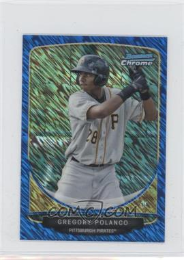 2013 Bowman Cream Of The Crop Chrome Mini Blue Wave Refractor #CC-PPI3 - Gregory Polanco /250