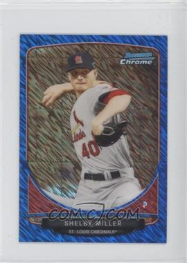 2013 Bowman Cream Of The Crop Chrome Mini Blue Wave Refractor #CC-STL2 - Shelby Miller /250