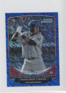 2013 Bowman Cream of the Crop Chrome Mini Refractor Blue Wave #CC-CI2 - Francisco Lindor /250
