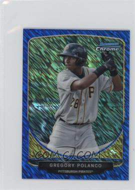 2013 Bowman Cream of the Crop Chrome Mini Refractor Blue Wave #CC-PPI3 - Gregory Polanco /250