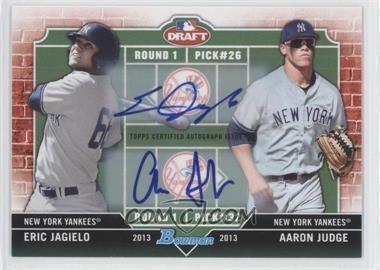 2013 Bowman Draft Picks & Prospects - Dual Draftee - Autographs [Autographed] #DD-JJ - Eric Jagielo, Aaron Judge /25