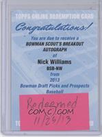Nick Williams /24 [REDEMPTIONBeingRedeemed]