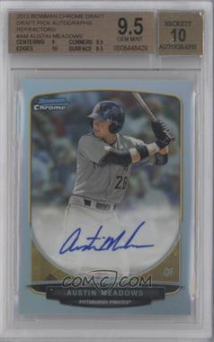 2013 Bowman Draft Picks & Prospects Chrome Draft Picks Certified Autographs Refractor [Autographed] #BCA-AM - Austin Meadows [BGS 9.5]