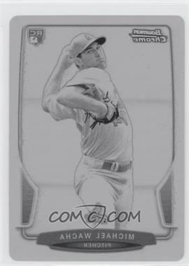 2013 Bowman Draft Picks & Prospects Chrome Printing Plate Black #21 - Michael Wacha /1