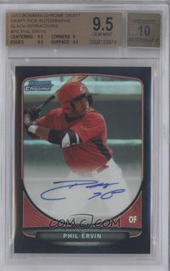 2013 Bowman Draft Picks & Prospects Chrome Prospect Autographs Black Refractor #BCA-PE - Phil Ervin /35 [BGS 9.5]