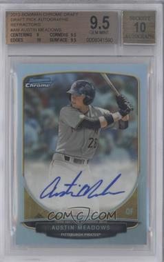 2013 Bowman Draft Picks & Prospects Chrome Prospect Autographs Refractor #BCA-AM - Austin Meadows [BGS 9.5]