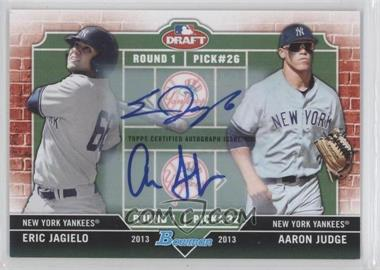 2013 Bowman Draft Picks & Prospects Dual Draftee Dual Autographs [Autographed] #DD-JJ - Eric Jagielo, Aaron Judge /25