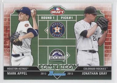 2013 Bowman Draft Picks & Prospects Dual Draftee #DD-AG - Mark Appel, Jonathan Gray