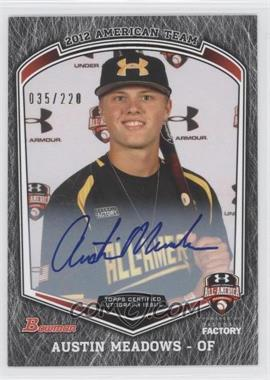 2013 Bowman Draft Picks & Prospects Under Armour All-American Autograph [Autographed] #UA-AM - Austin Meadows /220