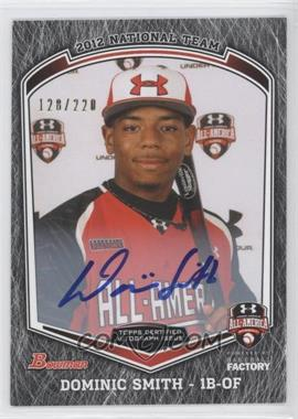 2013 Bowman Draft Picks & Prospects Under Armour All-American Autograph [Autographed] #UA-DS - Dominic Smith /220