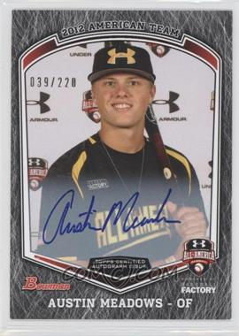 2013 Bowman Draft Picks & Prospects Under Armour All-American Autographs #UA-AM - Austin Meadows /220