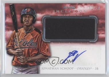 2013 Bowman Inception - Autographed Jumbo Relics - Red #AJR-JS - Jonathan Schoop /10